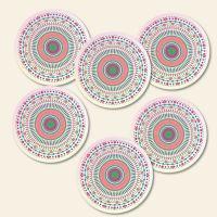 Bedruckte Korkuntersetzer Mandala Candy  Geist und Geschenk runde Form