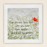 Wandbild Zitat Jane Austen Daß uns eine Sache fehlt, sollte uns nicht davon abhalten.. Geist und Geschenk