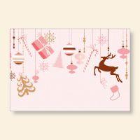 Grußkartenset bedruckt Weihnachten Geist und Geschenk