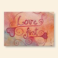 Grußkarten-Set 'Love first'