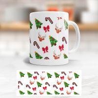 Tasse bedruckt   'Weihnachten', Geist und Geschenk, klassische Form