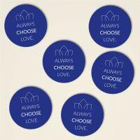 Always choose love untersetzer kork bedruckt bestellen  blau