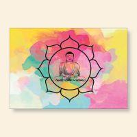 Bedrucktes Grußkarten- Set  Buddha Aquarell Geist und Geschenk