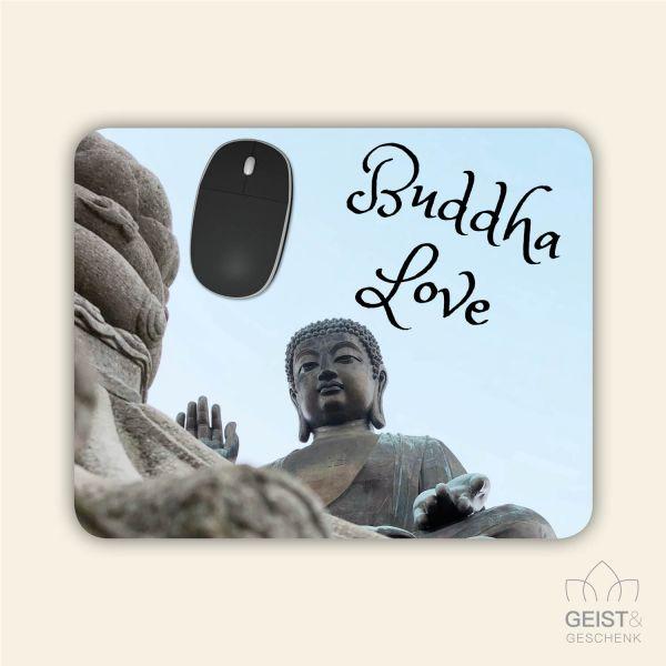 Bedrucktes Mousepad Buddha Love Geist und Geschenk eckige Form