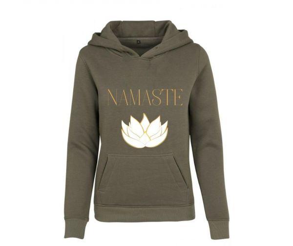Hoodie Damen bedruckt Namaste Lotus Geist und Geschenk