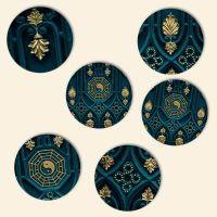 Bedruckte Korkuntersetzer 'Yin Yang Mix'   Geist und Geschenk runde Form
