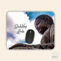 Bedrucktes Mousepad Buddha Geist und Geschenk eckige Form