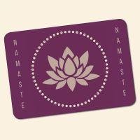 Bedrucktes 6-teiliges Tischset Namaste IV  Geist und Geschenk