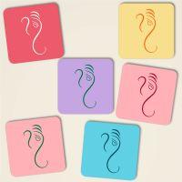 Untersetzer Kork Ganesha Design Mix-Pastell Geist und Geschenk