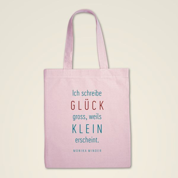 Stofftasche 'Ich schreibe GLÜCK gross..'
