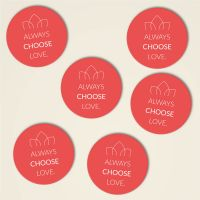 Always choose love untersetzer kork bedruckt bestellen rot