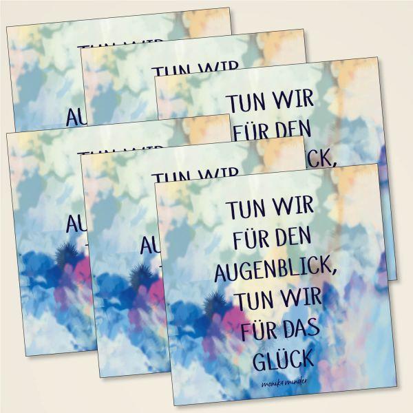 Karten-Set 'Tun wir für den Augenblick'