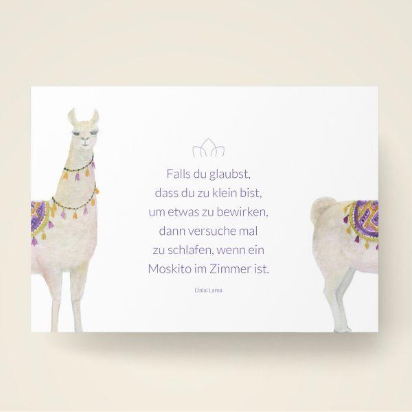Grusskarten Set 'Falls du glaubst, dass du zu klein bist um etwas zu bewirken...'