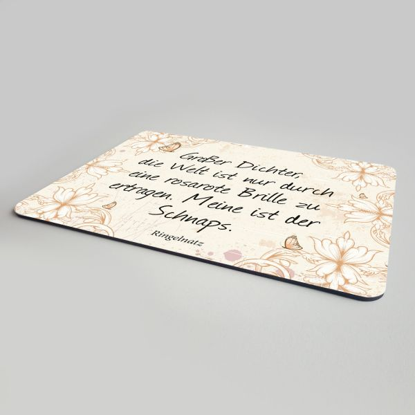 Mousepad-Ringelnatz-Zitat-rosarote-Brille-bedruckt-2