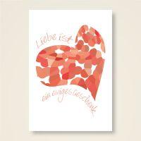 Grusskarten Set 'Liebe ist ein ewiges Geschenk'