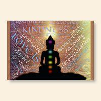 Grußkartenset bedruckt YOGA Chakra Geist und Geschenk