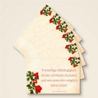 freiwillige abhaengigkeit goethe zitat set grusskarten geist und geschenk