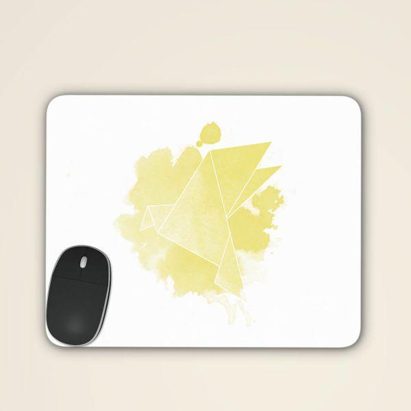 Mousepad origami taube motiv design bedruckt online bestellen vorderseite