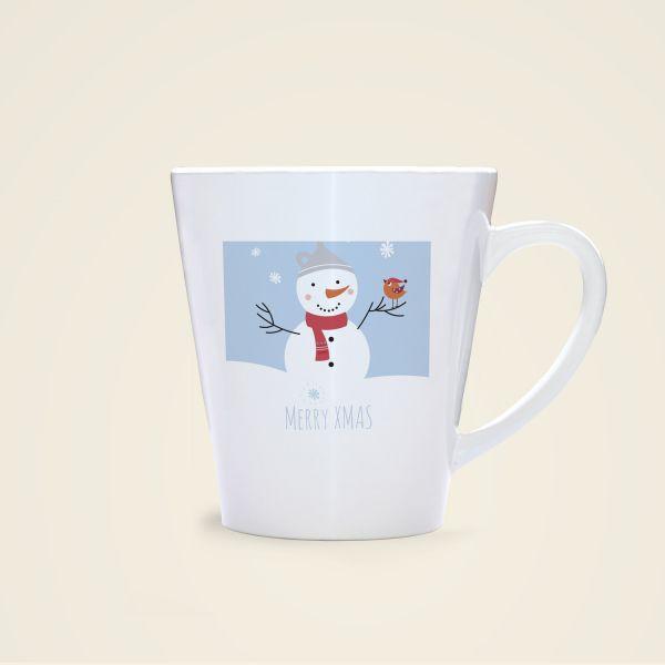 Weihnachtstasse Merry Christmas xmas Becher bedruckt Geist und Geschenk
