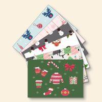 Grußkartenset bedruckt Weihnachten Mix-Set Geist und Geschenk