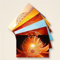 Postkarte Grußkarte Blume des Lebens Flower of Life Silence Geist und Geschenk