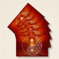 Postkarte Grußkarte Blume des Lebens Flower of Life Yin Yang Ruhr Geist und Geschenk