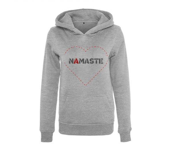 Hoodie Damen bedruckt Namaste Herz Geist und Geschenk
