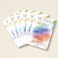 Grusskarten Set 'Das Glück ist Deins'
