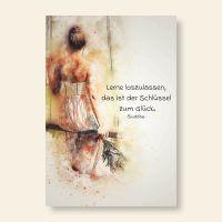 Bedruckte Postkarte Zitat Buddha Aquarell Geist und Geschenk