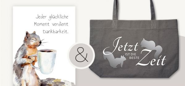 Geschenkset 'Eichhörnchen Design'