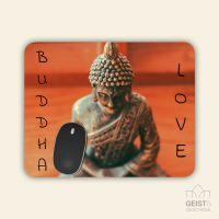 Bedrucktes Mousepad Buddha Meditation Geist und Geschenk eckige Form
