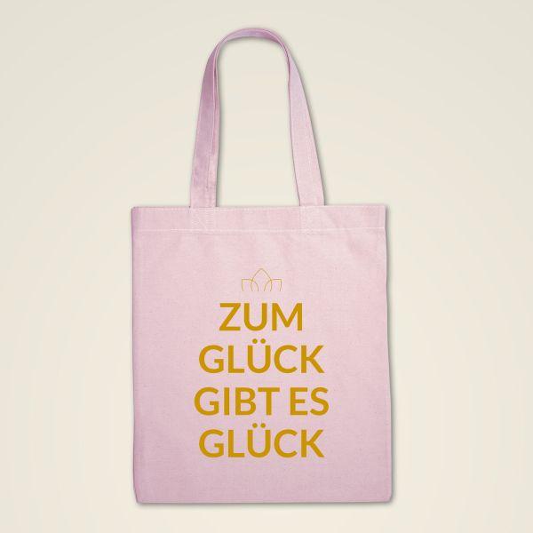 Stofftasche 'Zum Glück gibt es Glück'