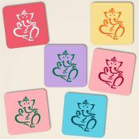Untersetzer aus Kork Ganesha Pastell-Mix Geist und Geschenk