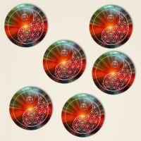 Geist und Geschenk Kork Untersetzer Blume des Lebens Motiv Yin Yang Universum 6er Set G