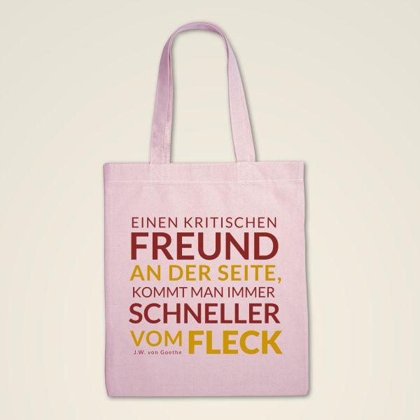 Stofftasche 'Einen kritischen Freund an der Seite...'