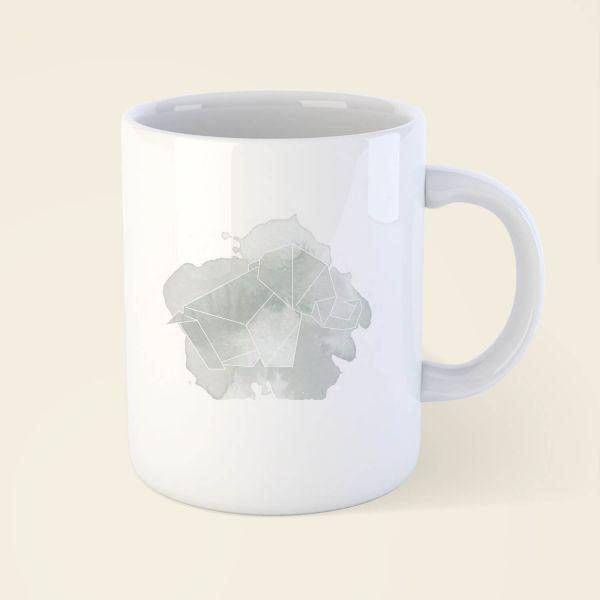 c2eec358818 Bedruckte Tasse mit Origami Motiv 'Elefant' online bestellen
