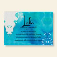 Bedrucktes Grußkarten- Set Liebe Geist und Geschenk