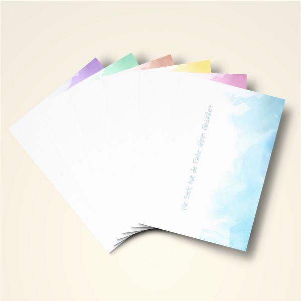 Grusskarten Set Farbwolken 'Alle Farben'