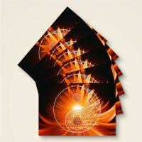 Grußkarten Postkarten Blume des Lebens Flower of Life  Yin Yang Tag Geist und Geschenk