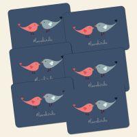Bedrucktes 6-teiliges Tischset Lovebirds  Geist und Geschenk