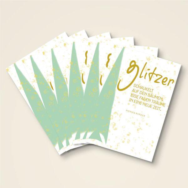 Bedruckte Weihnachtskarten Bestellen.Weihnachtskarten Set Glitzer