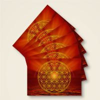 Postkarten Grußkarte Blume des Lebens Motiv Erdstern bedruckt Geist und Geschenk