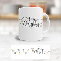Becher Tasse Weihnachts-Design Merry Christmas Geist und Geschenk klassisch