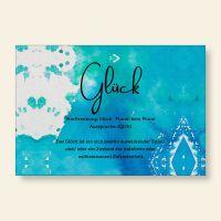 Bedrucktes Grußkarten- Set Glück Geist und Geschenk