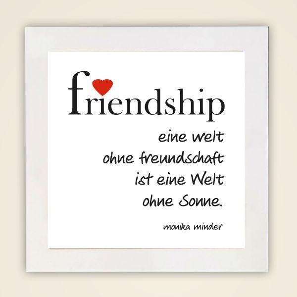 Wandbild 'Friendship' quadrat