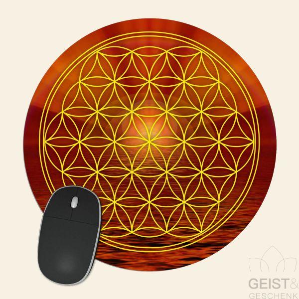 Mousepad-Blume-des-Lebens-Motiv-Erdstern-bedruckt-1