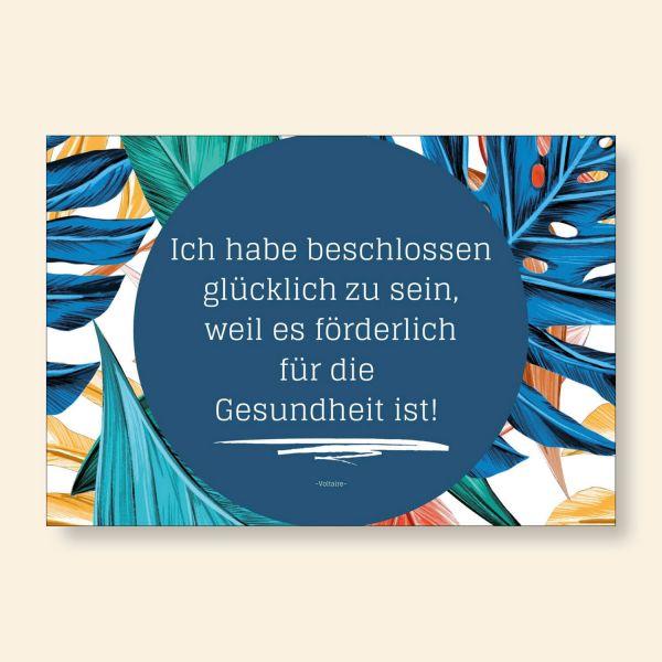 Grußkarten- Set 'Ich habe beschlossen glücklich zu sein, weil es förderlich für die Gesundheit ist'