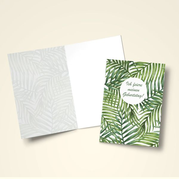 Einladungskarten Set 'Tropen'