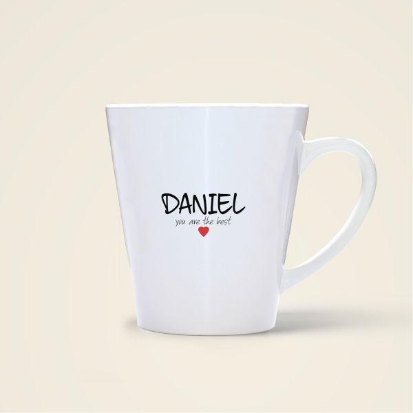 bedruckte Namenstasse Geist und Geschenk shop Daniel
