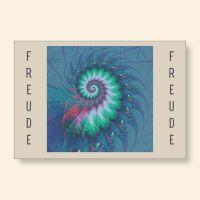 Grußkartenset bedruckt Fossil Freude Geist und Geschenk